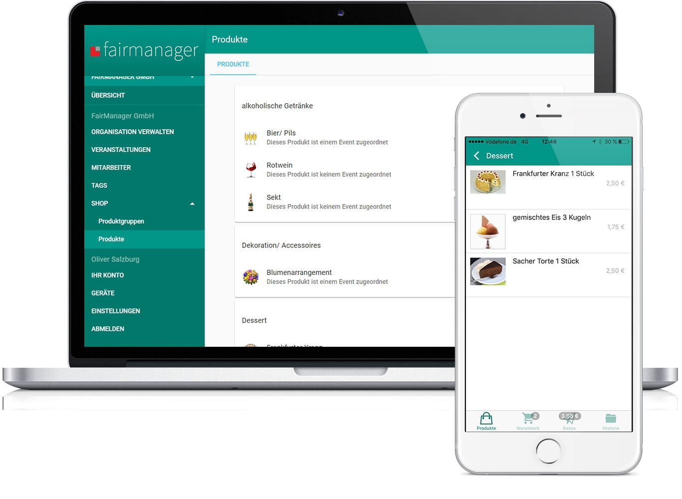 Bestellprozess über die App